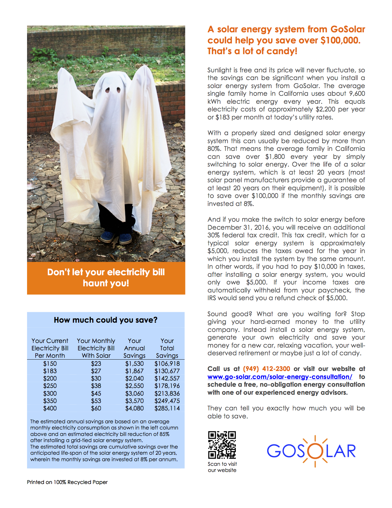 How much could you save_Halloween Ad